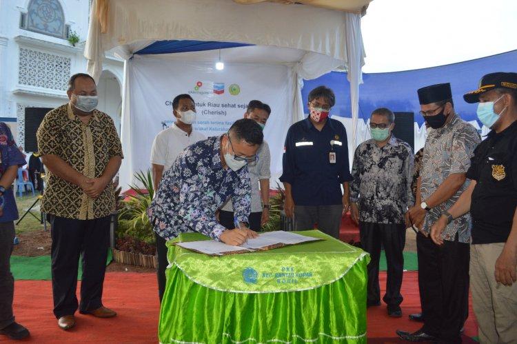 Chevron-UMRI Buat Fasilitas Air Bersih untuk Warga di Rohil