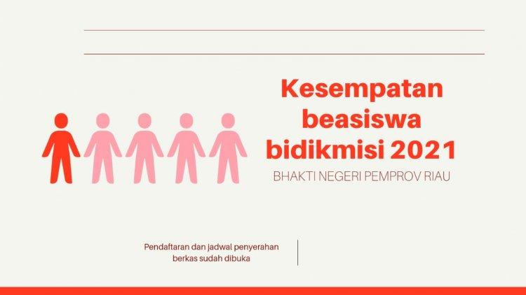Ini Syarat Dapat Beasiswa Bidikmisi Bhakti Negeri Pemprov Riau 2021