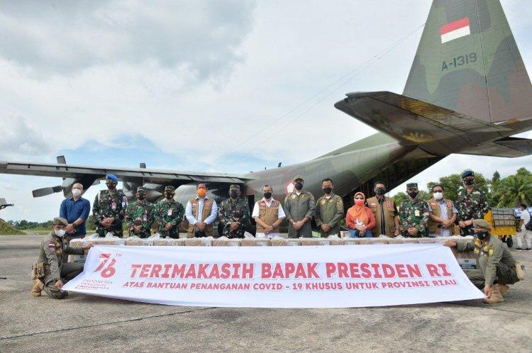Obat dan Oxygen Concentrator Bantuan Presiden Sudah Tiba di Riau