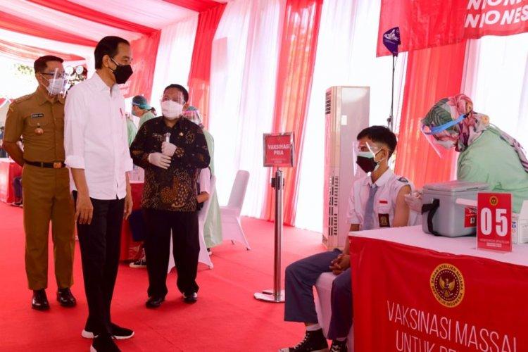 Jokowi Minta Vaksinasi Covid-19 Dilakukan secara Besar-besaran